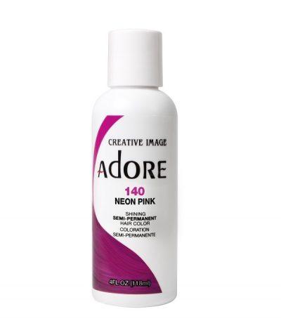 Adore Neon Pink 140 Semi-Permanent Hair Color